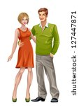 man and woman | Shutterstock .eps vector #127447871