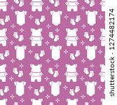 seamless pattern with baby... | Shutterstock .eps vector #1274482174