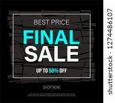 sale banner design vector. | Shutterstock .eps vector #1274486107
