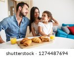 husband and wife with they... | Shutterstock . vector #1274487694