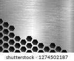 metal textured background  | Shutterstock .eps vector #1274502187