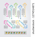 set of infographics elements.... | Shutterstock .eps vector #1274514871