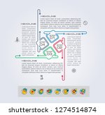 set of infographics elements.... | Shutterstock .eps vector #1274514874
