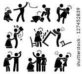 abusive husband helpless wife... | Shutterstock .eps vector #127452839