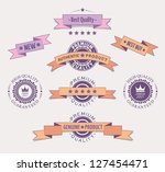 quality retro labels and... | Shutterstock .eps vector #127454471