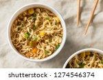 instant ramen noodles in a cup... | Shutterstock . vector #1274546374