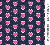 cute romantic hearts valentine... | Shutterstock .eps vector #1274548774