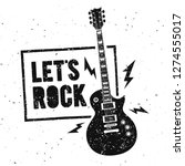 vector illustration lets rock... | Shutterstock .eps vector #1274555017