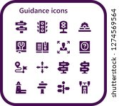 guidance icon set. 16 filled... | Shutterstock .eps vector #1274569564