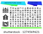 architecture icon set. 120... | Shutterstock .eps vector #1274569621