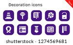 decoration icon set. 10 filled ... | Shutterstock .eps vector #1274569681