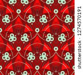 vector seamless pattern with... | Shutterstock .eps vector #1274570191