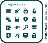 keyhole icon set. 16 filled... | Shutterstock .eps vector #1274570701