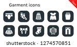 garment icon set. 10 filled... | Shutterstock .eps vector #1274570851
