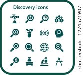 discovery icon set. 16 filled...   Shutterstock .eps vector #1274571907