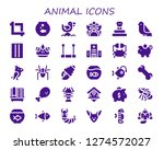 animal icon set. 30 filled... | Shutterstock .eps vector #1274572027