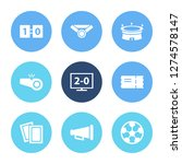 game icon set and bullhorn with ...