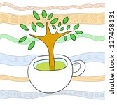 illustration of a tree in a... | Shutterstock .eps vector #127458131