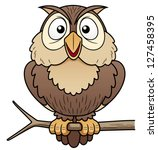 Illustration Of Cartoon Owl...
