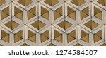 3d tiles old golden rhombuses... | Shutterstock . vector #1274584507