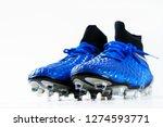 pair of football soccer boots... | Shutterstock . vector #1274593771