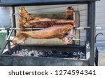 tasty meat on the grill... | Shutterstock . vector #1274594341