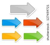 set of arrows  raster version... | Shutterstock . vector #127459721