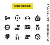 support icons set with care ... | Shutterstock .eps vector #1274597971