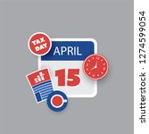 tax day reminder concept  ... | Shutterstock .eps vector #1274599054