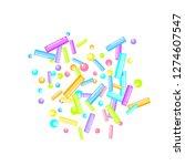 sprinkles grainy. sweet...   Shutterstock .eps vector #1274607547