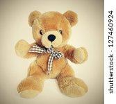 Teddy Bear On A White...