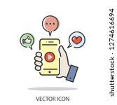 video  selfie icon vector | Shutterstock .eps vector #1274616694