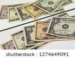 dollars banknotes concept.... | Shutterstock . vector #1274649091