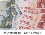 euro closeup banknotes concept. ... | Shutterstock . vector #1274649094