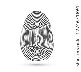 fingerprint vector icons... | Shutterstock .eps vector #1274671894