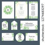 wedding invitation card... | Shutterstock .eps vector #1274683297
