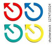 round motion arrow symbols | Shutterstock .eps vector #1274710324