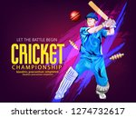cricket with batsman playing... | Shutterstock .eps vector #1274732617
