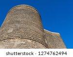 ancient maiden tower in baku...   Shutterstock . vector #1274762494