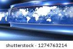 d rendering virtual set studio... | Shutterstock . vector #1274763214