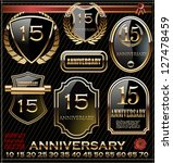 anniversary golden label | Shutterstock .eps vector #127478459