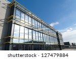 glass exterior of a modern... | Shutterstock . vector #127479884