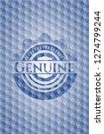 genuine blue emblem or badge... | Shutterstock .eps vector #1274799244