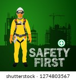 personal protect equipment ... | Shutterstock .eps vector #1274803567