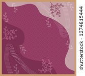 beautiful scarf pattern with... | Shutterstock .eps vector #1274815444