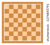 brown chess board top view with ... | Shutterstock .eps vector #1274855791