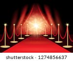 red carpet with award stage ... | Shutterstock . vector #1274856637