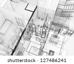building in x ray view  with... | Shutterstock . vector #127486241