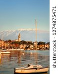 amazing of sunset on lake garda ... | Shutterstock . vector #1274875471