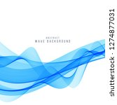 abstract stylish blue wave... | Shutterstock .eps vector #1274877031